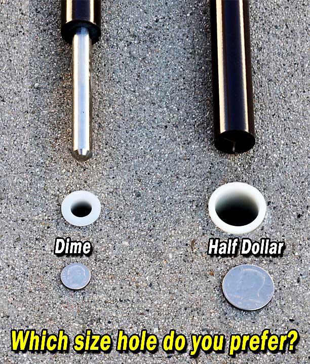 premier hole size
