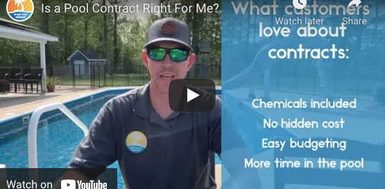 troy taylor of island pool services discussing pool cleaning contracts